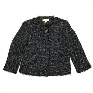 Michael Kors 4 Cropped Boucle Tweed Jacket